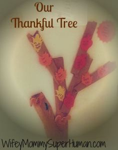 "The ""Thankful"" tree I made with the children.  I LOVED hearing all that they are thankful for!"